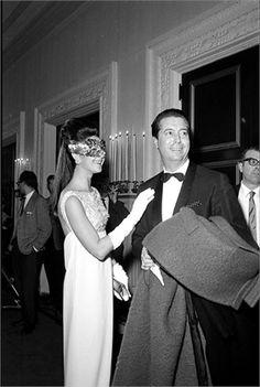 Countess Consuelo Crespi and Count Rodolfo Crespi at Truman Capote's Black and White Ball, 1966