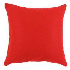"17"" x 17"" Felt Pillow in Red   Nebraska Furniture Mart"