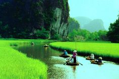 Tam Coc-Bich Dong is a popular tourist destination near the city of Ninh Bình in northern Vietnam.