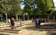 St Luke's kitchen garden by Willow and Wren.  Like the fencing made out of recycled pallets.