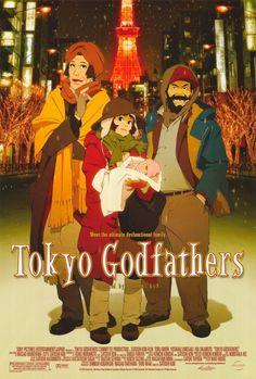"""Tokyo Godfathers"" (東京ゴッドファーザーズ Tōkyō Goddofāzāzu) is a 2003 anime film directed by the late Japanese director Satoshi Kon, and co-directed by Shōgo Furuya. Ghibli, Top Movies, Movies To Watch, Film Watch, Movies 2019, Tokyo Godfathers, Laurence Anyways, Film Animation Japonais, Satoshi Kon"