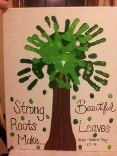 Preschool Crafts for Kids*: Father's Day Hand Print Tree Craft by britney