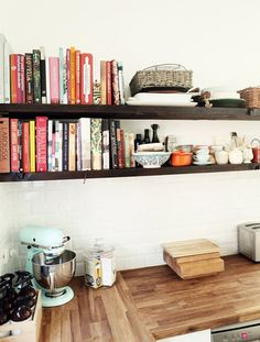 Could really use some shelves like this in the kitchen