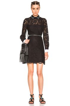 Studded Collar Mini Dress