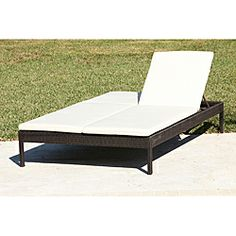Genial Wicker Double Chaise Lounge Patio For Your Garden