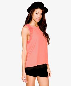 Floral Lace Georgette Top | FOREVER 21 - 2034440556