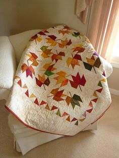 I want to make a maple leaf quilt!
