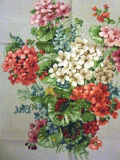 Beautiful vintage 'Sanderson' linen