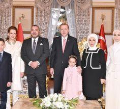 Reportage photo de la réception familiale offerte par Erdogan au Roi Mohammed VI