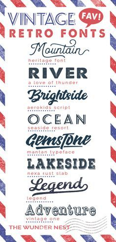 Vintage retro fonts have made a huge comeback in recent years. Sharing some of my vintage font collection with everyone. Two of the fonts...