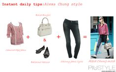Alexa Chung mood with Pepe Jeans, Cycle, Blugirl and Melissa www.piustyle.com