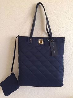 TOMMY HILFIGER Women Navy blue Tote bag with small bag 14