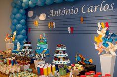 Festa Infantil - Tema Aquarela do Toquinho Hoje trouxe como Festa Infantil, uma festinha de menino mais que especial. O aniversário de 2 anos do meu Pequeno.