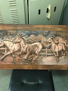 Atlar. Bakır levhadan rölyef 1989