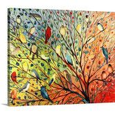 Found it at Wayfair - 'Twenty Seven Birds' by Jennifer Lommers Painting Print on Wrapped Canvas