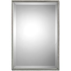 uttermost sherise brushed nickel bead framed beveled mirror 284 liked on polyvore featuring - Brushed Nickel Mirror