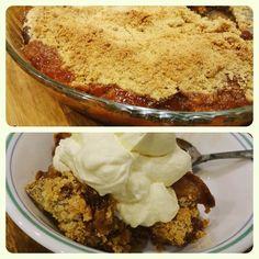 Weekend treat: Pear crumble  #glutenfree #grainfree #pearcrumble #sogood #glutenfreelife #pudding #baking #colchester #yummy #delicious #foodie #dessert #crumble #pearcrisp #gfbakes #nomnom #foodporn #glutenfreebaking #treat #tasty #allergyfriendly by raspberriesnroses