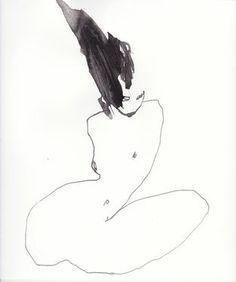 "Saatchi Art Artist Corine Pagny; Drawing, ""yesterday"" #art"