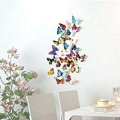 24pcs 3D DIY Butterfly Wall Stickers
