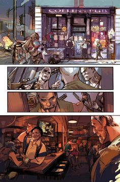Greg Tocchini - Masters of Anatomy Comic Book Pages, Comic Book Artists, Comic Artist, Comic Books Art, Comic Layout, Comic Boards, Comic Panels, Illustration, Environment Concept Art
