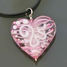 A Gorgeous Valentine Glass Heart