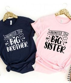 Becoming an older brother or sister is a big deal so dress them in a cool promoted to big brother or sister t-shirt and take a photo to share on social media. See more party ideas and share yours at CatchMyparty.com #catchmyparty #partyideas #pregnant #pregnancyannouncements #digitalpregnancyannouncements
