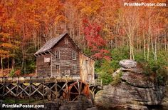 Glade creek grist mill in West Virginia poster #poster, #printmeposter, #mousepad, #tshirt