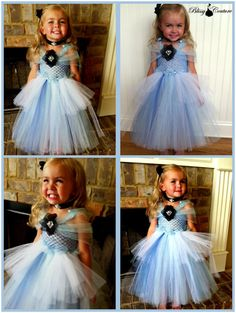 Cinderella Tutu Dress Halloween Costume Pageant Dress