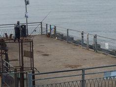 Fishing off Llandudno Pier
