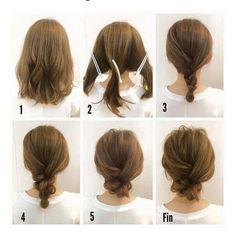 """Gefällt 38 Mal, 2 Kommentare - Creative Layers Hair (@creativelayershair) auf Instagram: """"Easy #updo for #shorthair #hairstyles #hairideas #weddinghair #bridalhair #hair #brides #promhair…"""""""