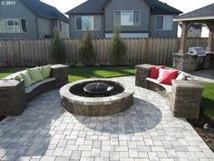 Fire pit and a BBQ...awesome sauce!