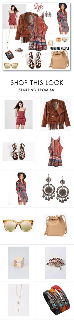 """""""Genuine-People Romper"""" by ludmyla-stoyan ❤ liked on Polyvore featuring LOFT, Boohoo, SteamCream and Etude House"""