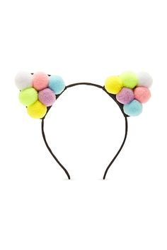 Pom Pom Cat Ear Headband - Women - New Arrivals - 1000103738 - Forever 21 Canada English