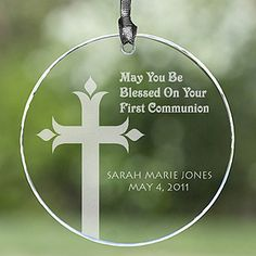 $16.95 Baptism Gift - Suncatcher or Ornament - Personalized