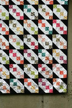 Half square triangles and four-patches - simple but striking!