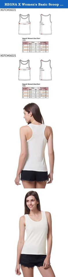 REGNA X Women's Basic Scoop Neck Supersoft Stretch Comfort Sleeveless Cami Tank Top,Off-White,Small. Regna X Basic Daily Round V Neck T-shirt Top Using Supreme Cotton Blend Fine Jersey Fabric. Super Soft & Stretch High Functional Material. We Have Plus Size, X-Large(XL), XX-Large(2XL), XXX-Large(3XL). REGNA X is An Online-based Brand to Offer Good Quality Products at Affordable Prices. The 'X' Within the REGNA X Represents Infinity to Meet All Kinds of Your Needs Through Various...