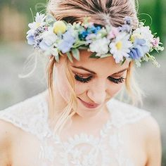Dress up your wedding hairstyle or find a pretty alternative to a traditional headpiece with a fresh or fabric flower crown.