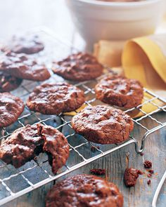 The secret to making unleavened chocolate cookies that are chewy and light lies in the technique. Egg whites, beaten until fluffy, are folded into the chocolate batter to produce the distinctive texture. Chocolate chips are added last.