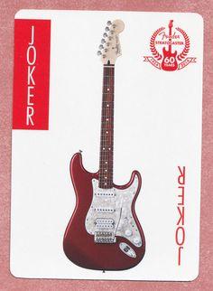 Fender Stratocaster guitar playing card single swap JOKER - 1 card