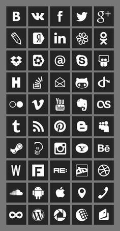 Icon.hands — сборник иконок социальных сервисов / Дизайнер Руслан Степанов