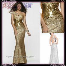 EP256 Glänzende Schulter Mermaid Langer Abschlussball Kleidet 2017 Sexy Perlen Pailletten Flügelärmeln Abendkleider Gold/Weiß Party kleid //Price: $US $169.00 & FREE Shipping //     #dazzupde