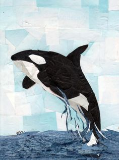 Whale Art Print by GiGi Garcia Collages   Society6