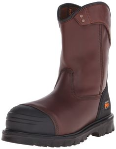 Timberland PRO Mens Caprock Alloy Toe Wellington Work Boot Brown Smooth Leather 11 M US ** To view further for this item, visit the image link. (This is an affiliate link) Timberland Earthkeepers, Timberland Pro, Black Ankle Boots, Brown Boots, Men's Boots, Waterproof Shoes, Dress With Boots, Winter Shoes, Leather