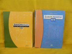 Saxon Math 65 Student Hardback & Solutions Manual Homeschool or School #TextbookBundleKit