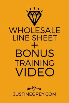 Get your products into retail stores with this free Wholesale Line Sheet and bonus training video