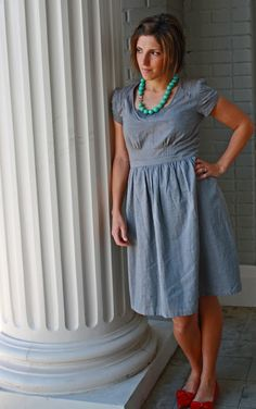 icandy handmade: (iCandy) almost mine dress. Love the sleeve detail and tucks in the bodice