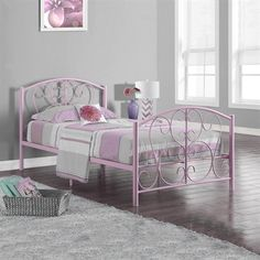 monarch specialties i metal twin bed frame