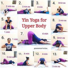 From a revitalizing restorative Yin Yoga Sequence for your upper body. ðŸðŸ Tag someone who should try this! Yoga Yin, Yin Yoga Poses, Sup Yoga, Yoga Meditation, Vinyasa Yoga, Ashtanga Yoga, Beginner Yoga, Yoga Poses For Beginners, Advanced Yoga