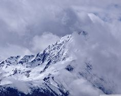 #mountains #winter #clouds