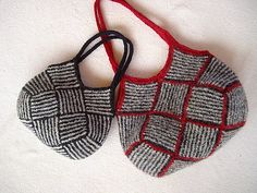 Ravelry: Garter Stripe Square Bag pattern by Ishi-knit